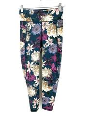 SWEATY BETTY Zero Gravity Leggings 7/8 Run High Waist Floral Zip Pocket Size S