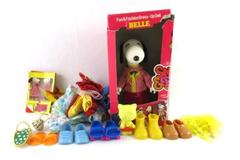 Vintage 1960s Knickerbocker Snoopy Dress Up Belle With 7 Outfits Original Box