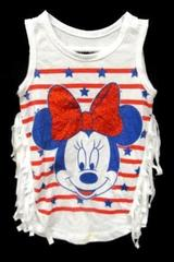 Disney Baby Minnie Mouse Forth Of July Tank Top Infant Toddler Size 12 Months