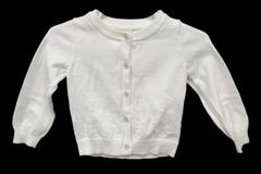Cherokee Baby Girl Button Front Cardigan Infant Size 12 Months White