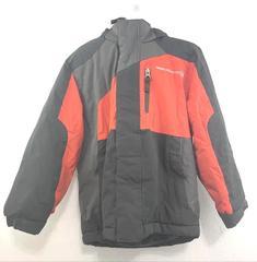 Free Country Coat Jacket Gray Black Orange Hood Full-Zip Winter Boys Size 5/6