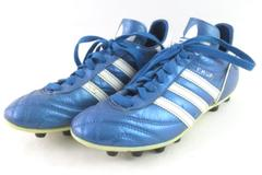 Adidas Metallic Blue Made In Germany Soccer Cleats Women's Size 5.5 Lace Up