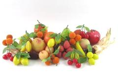 Lot of 27 Pieces Of  Artificial Fruits And Vegetables Decoration Oranges Apples