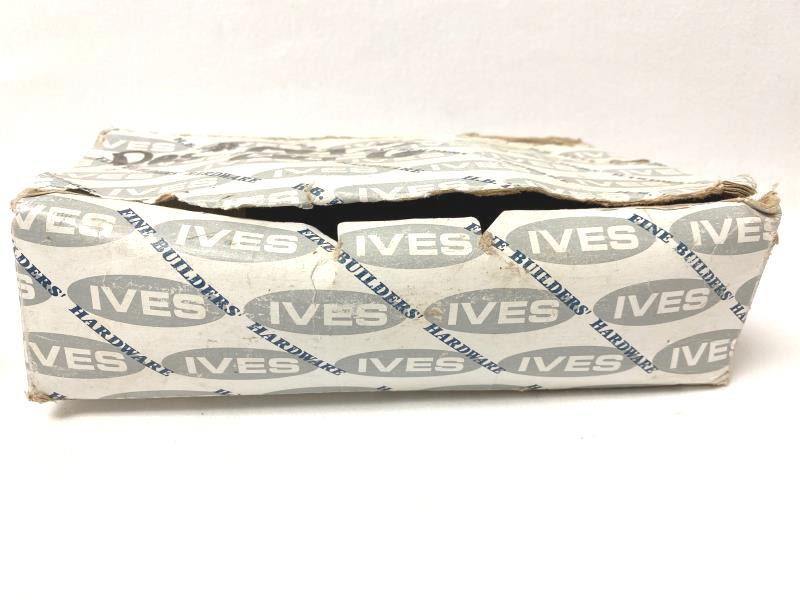 """Set of 2 H.B. Ives Heavy Duty Floor Mounted Door Stops Chrome 3"""""""