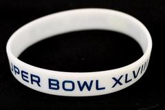 Super Bowl XLVII Pavilion 5 Baller Wristbands White Silicone Sports Bracelet