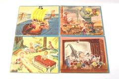 Lot of 4 Vintage Bill Layne Picture Puzzles All Pieces Elves Mice Pigs USA