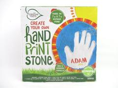 Creative Roots Create your Own Hand Print Stone Kit 64914A 7in x 7in