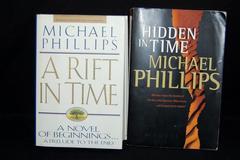 Lot of 2 Michael Phillips Novels Paperback A Rift in Time Hidden in Time DJ HC