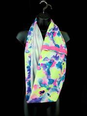 IVIVVA Village Chill Scarf Reversible Wrap Cowl in Mermaid Tears Rainbow Girls
