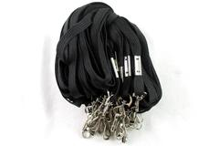 Lot of 24 Black Neck Lanyards With Metal Hook Knit Key Chain ID Holder