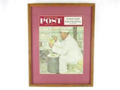 Framed Norman Rockwell Saturday Evening Post Cover January 3 1953