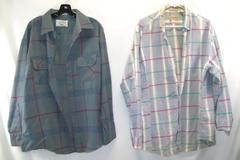 Men's Plaid Thick Flannel Button Shirt Northwest Territory St. John's Bay XL