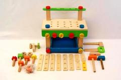 Ever Earth Wooden Toddler Tool Bench With Accessories Tools Bolts