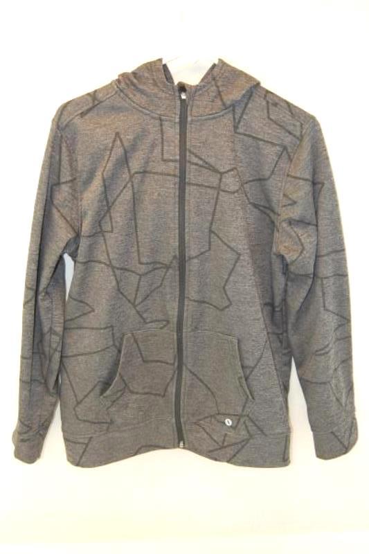 Xersion Boy's Light Weight Jacket Full Zip Size XL 18/20 Grey