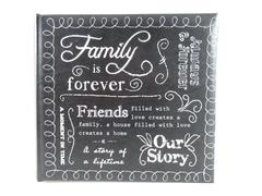 TYM Treasure Your Memories Photo Album Holds 200 6 x 4 Family Embroidered