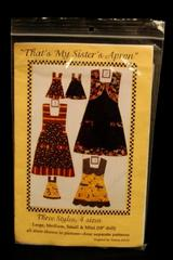 That's My Sisters Apron Donna Zwickl 3 Styles 4 Sizes Precut
