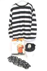 Costume Party Halloween Adult Prisoner & Police Hat with Chains