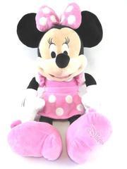 Disney Minnie Mouse Stuffed Animal Plush Black White Pink Dress Toy Jumbo 25''