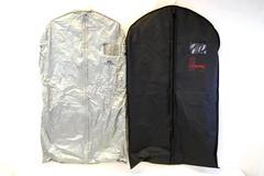 Lot of 2 Garment Suit Bags Stafford JC Penney's  Black Grey  Zip Closure