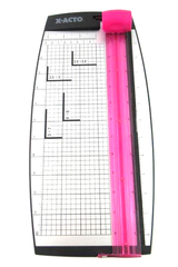 X-Acto 12-in Rotary Paper Trimmer Plastic Base Removable Blade Pink