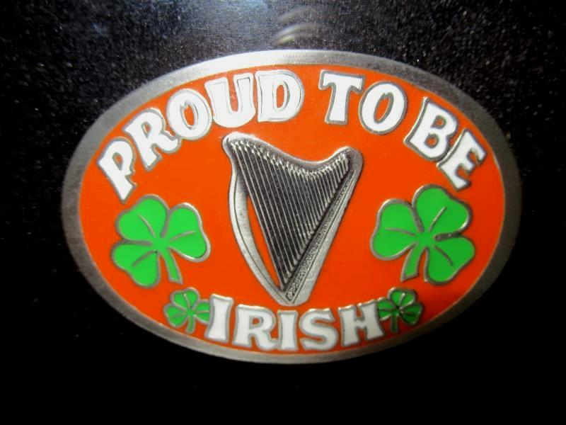 Proud To Be Irish Belt Buckle Great American Buckle Co 1993 Shadow Box Framed