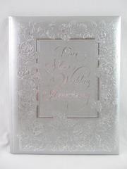 Vintage 1982 Hallmark Silver Anniversary Keepsake Album 8.75 x 10.75 in