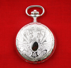 CHANDLER Swiss Mini Pocket Watch w RHODIUM CASE