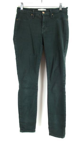 HENRY & BELLE Emerald Green Super Skinny Stretch Ankle Jeans Women's Sz 27