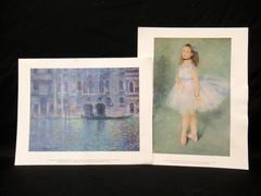 2 National Gallery of Art Reprints Renoir The Dancer Monet Palazza da Mula