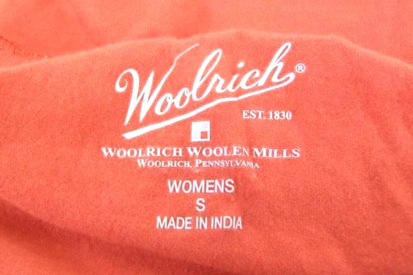 Woolrich Women's Orange Short Sleeve Shirt Size Small