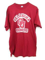 Russell Athletic Oklahoma Sooners OU Red Graphic Tee Shirt Men's Size Large