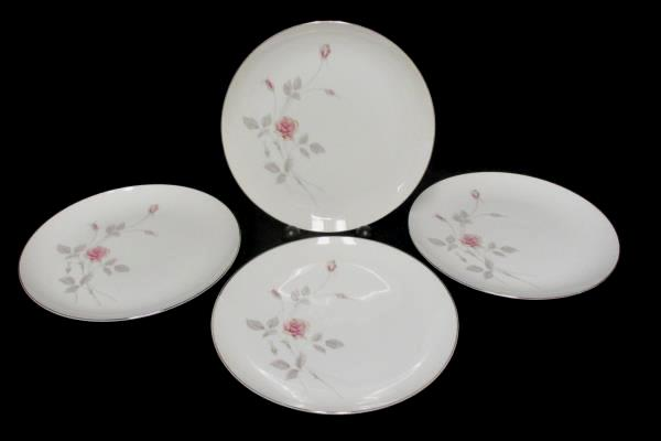 Lot of 4 Royal Song #5442 Remembrance Platinum Gilt Dinner Plate 10.5 inch