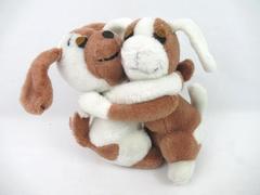 DAKIN Hugging Plush Puppies Brown And White 10 inch