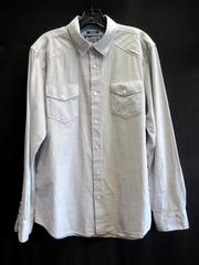 American Rag Shirt Top Light Grey Gray Cotton White Stitching Men's Medium