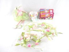Lot of 4 Easter Items Decor Vintage Decoregger Egg Garland Ceramic Dish