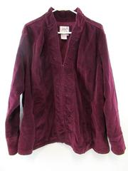 LAL Live a Little Corduroy Jacket Maroon Burgundy Women's Plus Size 2X