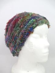 Lakhay's Collection 100% Silk Knit Beanie Hat Made In Nepal Multicolor