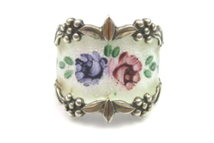 Vintage Clark & Combs Sterling And Enamel Ring Women's Size 7.5