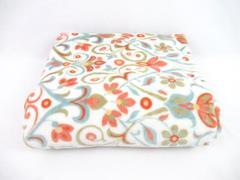 Cynthia Rowley Floral Soft Throw Blanket Orange Blue White