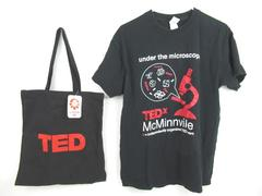 Lot of TED Under The Microscope Items Tee Shirt Ted X McMinnville Tote Bag Sz L