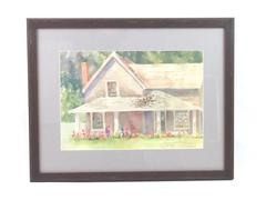 Framed Judy Buswell Limited Edition Watercolor His Sister's House 197/3500