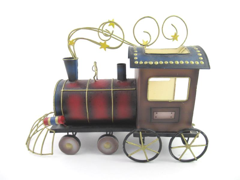 Tin Steam Engine Tealight Candle Holder