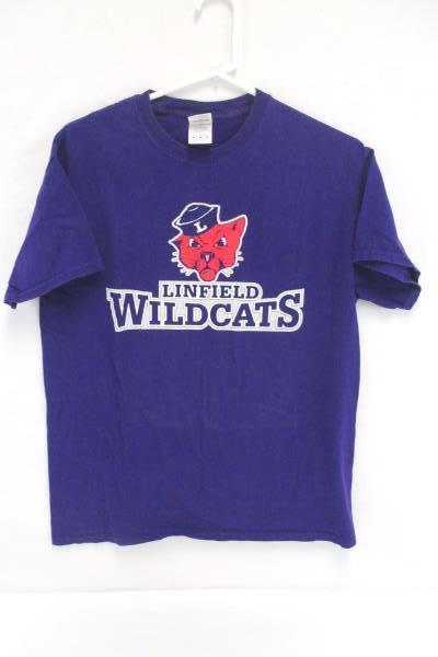 Linfield College Wildcats Lot Purple T Shirt M Back Pack Sunglasses and Case