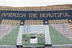 Warrby Kimble Tapestry Throw Blanket America The Beautiful Sea To Sea