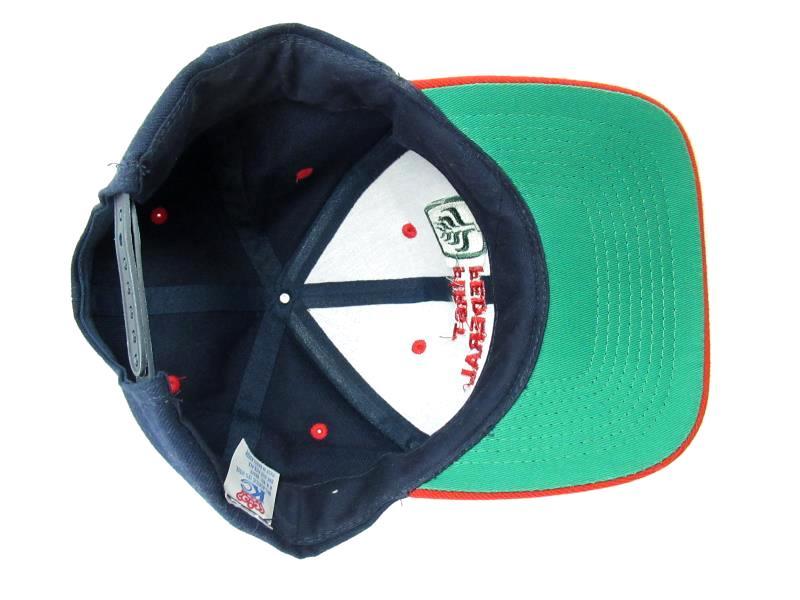 Vintage KC Snap Back Baseball Hat First Federal Bank Blue Red Adjustable