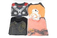 Lot of 4 Kids Shirts Size 5 Tops Long Sleeve Pajama Starwars Graphic Print