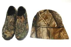 Game Winner Camouflage Slip On Shoes Kids Size 6.5 Matching Hat