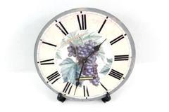 Timeworks Berkeley California Vitis Vinfera Clock With Stand For Parts or Repair