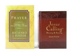 Lot of 2 Devotionals Jesus Calling Prayer Hardcover Richard Foster Sarah Young