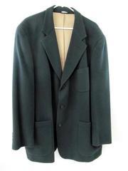 Vintage Geoffrey Beene Blazer Sport Coat Forest Green Wool Lined Men's Size 52